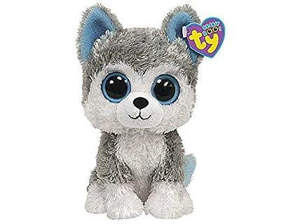 Slush perro Husky de peluche 15 cm Beanie Boos Ty Juegos Juguete Idea regalo # AG17