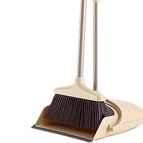 Broom and Dustpan Set, 48 inch Extendable Broom Standing Upright - Wind Proof - Foldable Sweep Set with Soft Bristles & Rubber Edge & Dust Pan with Teeth, Perfect for Kitchen, Garden, Office, etc. by SerBion (Image #7)'