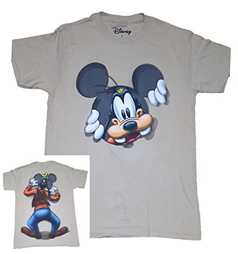 Disney Goofy Peeking Adult Fashion Top T Shirt- 2XL