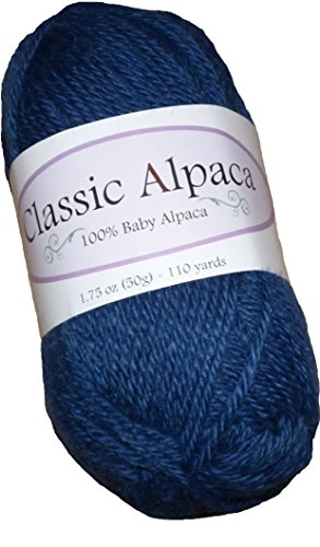 Classic Alpaca 100% Baby Alpaca Yarn #1626 Marine Blue for sale  Delivered anywhere in USA
