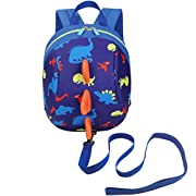DB Dinosaur Toddler Mini Backpack with Leash, Anti-Lost Children Backpack, Kid snak Cartoon Backpack for Toddler Boys…