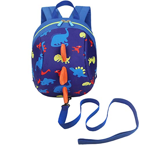 DB Dinosaur Toddler Mini Backpack with Leash, Anti-Lost Children Backpack, Kid snak Cartoon Backpack for Toddler Boys Girls 1-2 Years Old (Toddler Back With Leash)