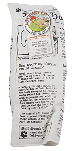 Ruff House Pet Newspaper Squeaker