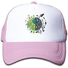 Save The Planet Child Baby Kid Mesh Caps Adjustable Trucker Hats Summer Snapback