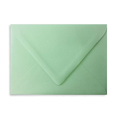 Mint Envelope (Mint A7 Euro Curved Flap Invitation Envelopes - Pack of 100)