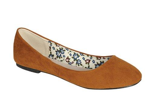 Reneeze DAISY-22 Women Flat-Heel Casual Shoes, Color: CAMEL, Size: 9