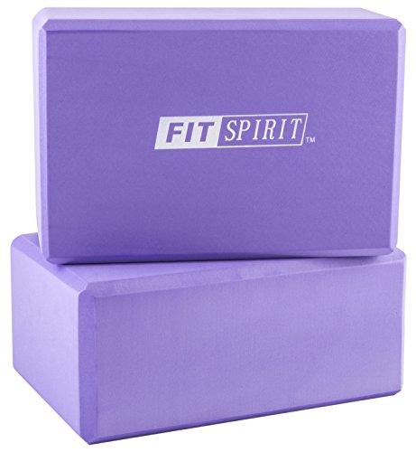 Fit Spirit Set of 2 Purple Exercise Yoga Blocks - 9