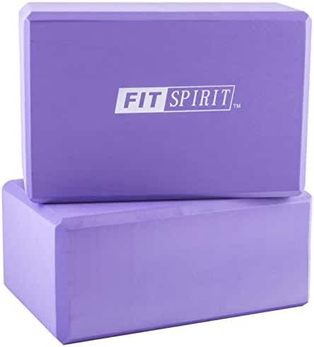 Fit Spirit Set of 2 Exercise Yoga Blocks - Choose Your Color & Size