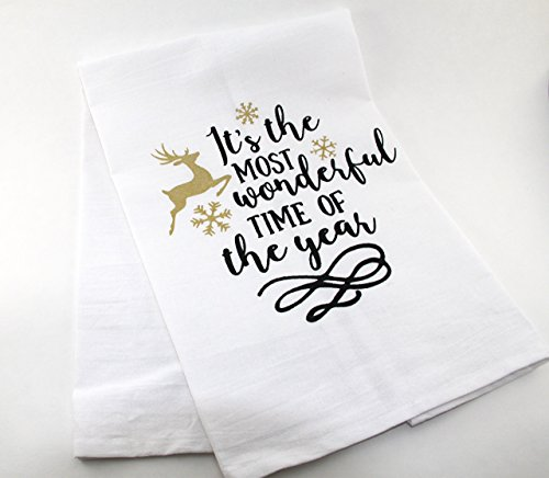 Christmas Time Salt - Wonderful Time Of The Year | Christmas | Flour Sack Tea Towel