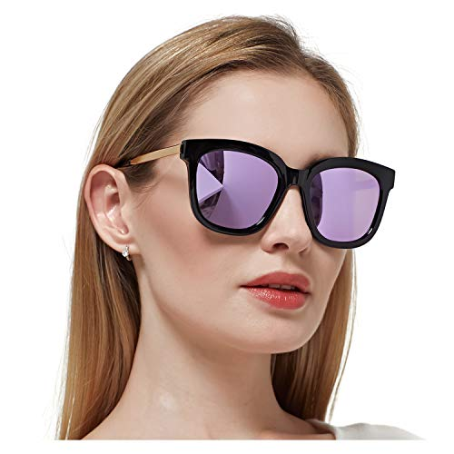SIPHEW Oversized Mirrored Sunglasses for Women/Men, Polarized Sun Glasses with 100% UV400 Protection (Quay Shades)