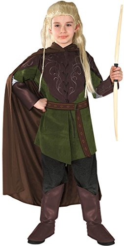 [Kids Legolas Costume - Child Medium] (Legolas Wig)