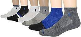 Best Price Men 6 pack Athletic Royal Texture Quarter Sock Size 10 13 Shoe 6 125 Royal