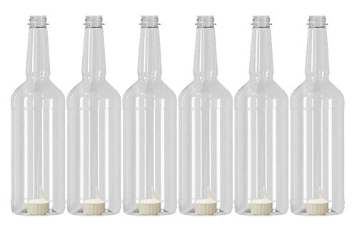 Long Neck 32oz Quart Bottles With Flip-Top Caps