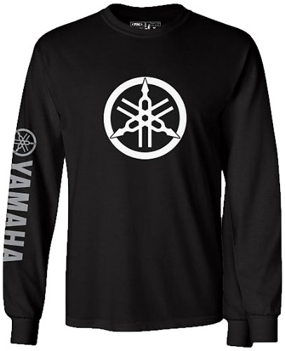 Factory Effex 17-87218 'YAMAHA' Long Sleeve T-Shirt (Black, XX-Large)