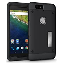 Nexus 6P Case - TUDIA Ultra Tough OMNIX [Heavy Duty] Hybrid Full-body Protective Case with Front Cover and Built-in Screen Protector / Impact Resistant Bumpers Cover for Google Nexus 6P (Matte Black)