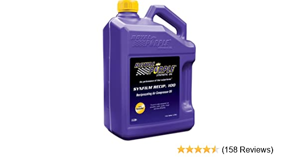 Amazon.com: Royal Purple 44513 Synfilm Recip 100 High Performance Synthetic Air Compressor Lubricant- 1 gal. (Case of 4): Automotive