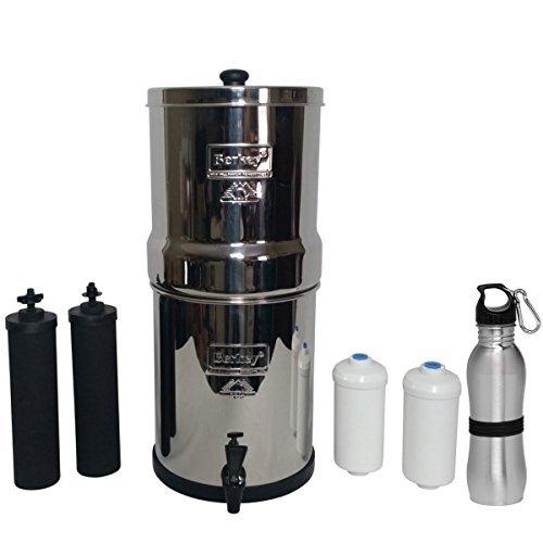 Big Berkey Water Filter 2.5 Gallon System Bundle: 2 Black BB9 Filters,...
