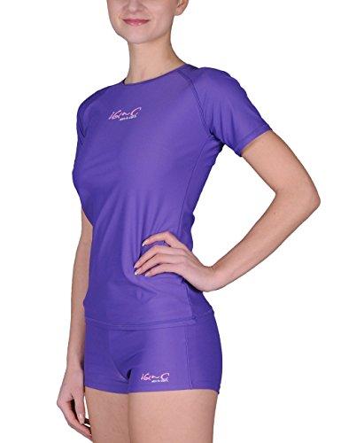 iQ-Company Damen T-Shirt UV 300 Loose Fit Watersport, Purple, XXS, 668122-2390