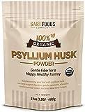 Pure Organic Psyllium Husk Powder (30oz): 100% Natural, Whole Food, Plant Based Fiber