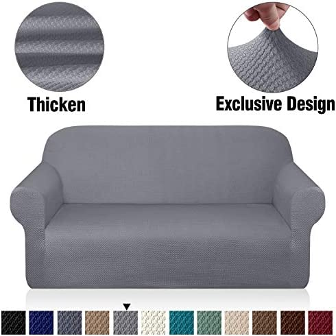 picture of Granbest Thick Loveseat Sofa Covers for 2 Cushion Couch Stylish