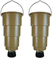 New! (2) MOULTRIE 5 Gallon All in One Hanging Deer Feeders w/Adjustable Timer