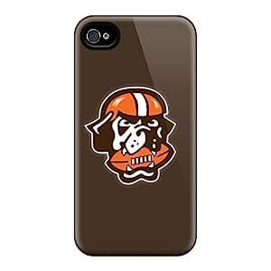 Unique Design Iphone 4/4s Durable Tpu Case Cover Cleveland Browns 7