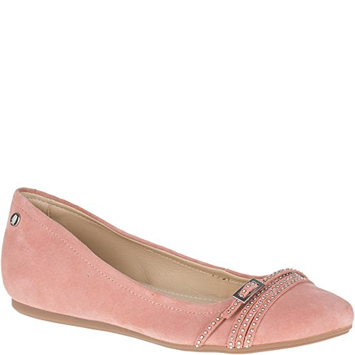Hush Puppies Womens Haylee Heather Flat Rose Nubuck