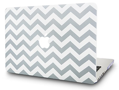 KEC Laptop Case for MacBook Pro 13 (2018/2017/2016) Plastic Hard Shell Cover A1989/A1706/A1708 Touch Bar (Wave Lines)