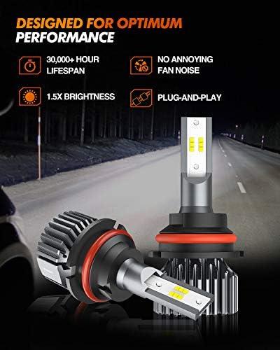 SEALIGHT 9007 HB5 Led Headlight Bulbs Hi/Lo Beam 12000LM 24xCSP Chips LED Conversion Kit Dual Beam Bulb 6500K White