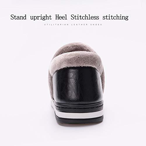 Uomo Antiscivolo Ciabatte Invernali Pantofole black Caldo Casa Peluche Donna Scarpe Inverno G Morbido d1RqtRv