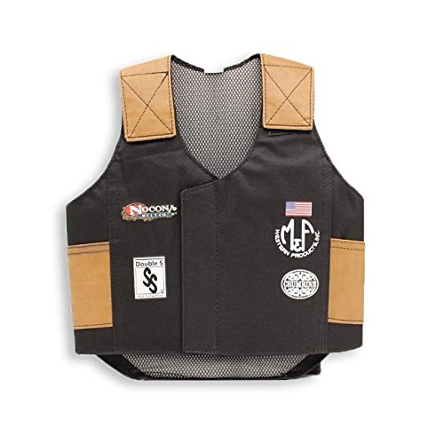 Kids Bull Costumes (M & F Western Boys' Bull Rider Play Vest 2-10 Years Black Small)
