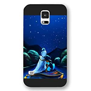 Customized Black Frosted Disney Cartoon Movie Aladdin Jasmine Samsung Galaxy S5 Case