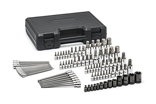 GearWrench 80742 Master SAE/Metric Hex and Torx Bit Socket Set (84 (Ball Torx Bit)