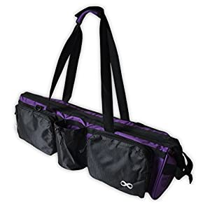 """Well-Being-Matters 41LD3e%2BnZZL._SS300_ YogaAddict Yoga Mat Tote Bag """"Supreme"""" and Carriers with Pocket & Zipper, 30"""" Long, Extra Large, Fit Most Mat Size, Pilates, Gym, Compartment for Yoga Block, Easy Access"""