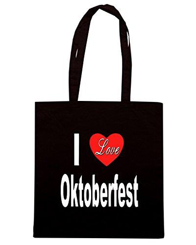 T-Shirtshock - Bolsa para la compra TLOVE0111 i love oktoberfest front black Negro