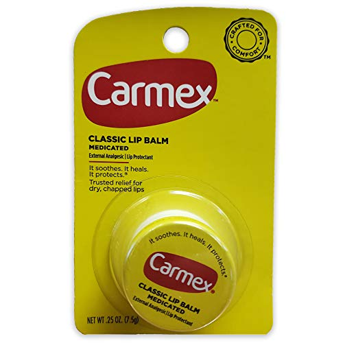 Carmex Classic Medicated Lip Balm .25oz Jar - Pack of 12