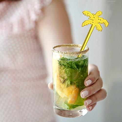 Plastic Cocktail Palm Tree Swizzle Sticks Tropical Drink Stir Swizzle Sticks Bar set of 4 colors 20 pcs