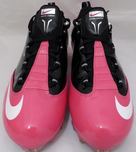Russell Wilson Autographed Signed Pink Nike Cleats Shoes Seahawks Rw Holo 130719 Autographed NFL Cleats