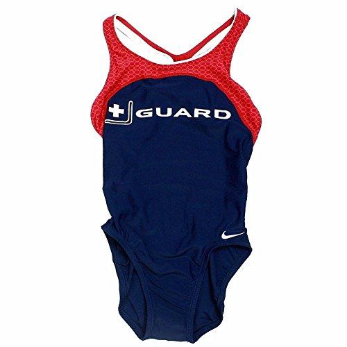 (Nike Women's +Guard Swimsuit Power Back Tank Midnight Navy Swimwear Sz: 30)