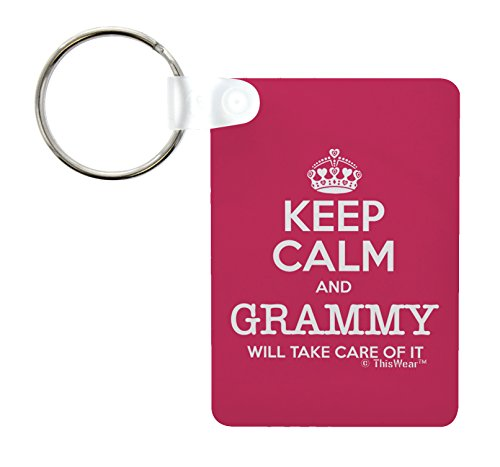 ThisWear for Grammy Keep Calm and Grammy Will Take Care of It Birthday Gifts for Grammy Grandma Aluminum Rectangle Keychain Keytag