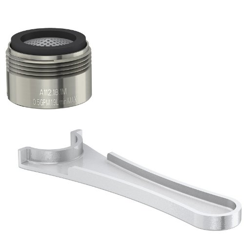 Danze DA613075NBN Junior Male Faucet Aerator Kit with Spray Flow Pattern, 0.5 GPM, Brushed Nickel