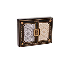 Springbok KEM Arrow Black and Gold Bridge Size Jumbo Index Playing Cards