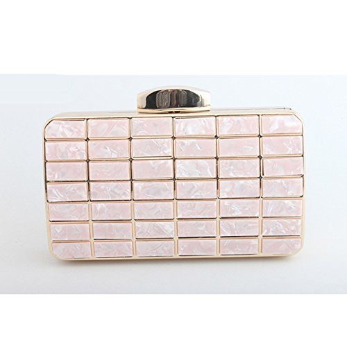Evening Shoulder bag Flada Purse Marble Girl's Clutch Pink Patch Women's Handbag B55qxw4T7