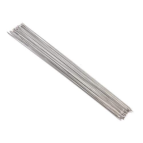 (Bodkins - Beading Needles Threading String Cord Jewelry Findings 120mm Silver Plated Equipments 30 Pcs Lot - Holder Button Hand Needlepoint Tool Thread Earrings Gown Crafts Dress )