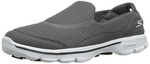 Skechers Performance Footwear Womens Gowalk 3 - Unfold Walking Shoe,Charcoal,9 M US