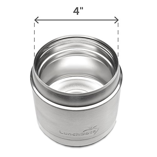LunchBots Wide Thermal 16 oz. All Stainless Steel Bowl - Insulated Food Container Stays Hot 6 Hours or Cold for 12 Hours - Leak Proof Soup Jar for Portable Convenience - Blue by LunchBots (Image #3)