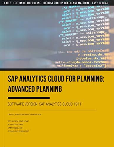 SAP Analytics Cloud 1911 for Planning