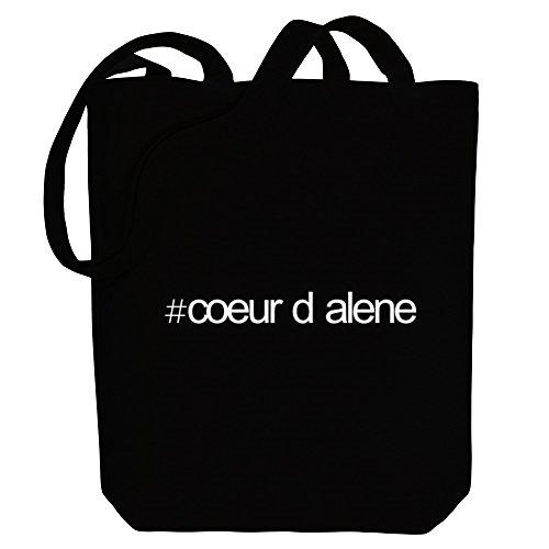 Idakoos Hashtag Coeur D Alene - US Städte - Bereich für Taschen