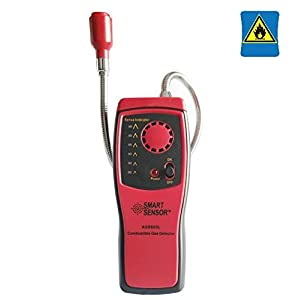 Gas detectors, Combustible Gas Detector Portable Gas Leak Location Determine Tester with Sound - Light Alarm