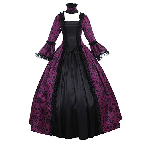1791's lady Women's Victorian Rococo Dress Inspiration Maiden Costume NQ0032 (XXXL:Height68-70 Chest50-52 Waist43-45, Fuschia)]()